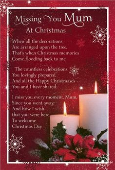 Missing you Mum at Christmas