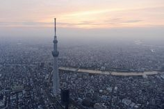"""Worlds tallest """"tower"""" at 2,080 feet tall. A view of Tokyo Skytree.  The world's tallest skyscraper — and structure of any kind — is still the Burj Khalifa in Dubai, which stands 2,716 feet tall."""