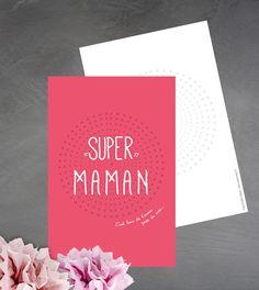 Carte 'Super maman' c'est bon de t'avoir près de moi : Cartes par suite-creative-babies