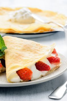 Creamy Strawberry Crepes Recipe with Lemon Cream Cheese Filling