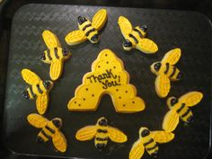 bumble bee cookies & hive!