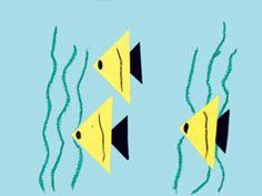 preschool-triangle-shape-activities-fish-making. Toddler Art, Toddler Crafts, Preschool Activities, Crafts For Kids, Shape Activities, Children Crafts, Vocabulary Activities, Ocean Crafts, Fish Crafts