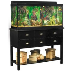 Marineland 174 55 Gallon Led Hood Aquarium Amp Stand Ensemble