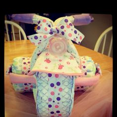 Tricycle diaper cake!