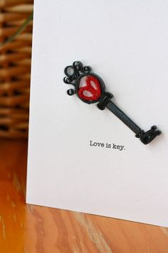 Love is Key Quilled Card