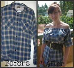 Do it your self shirt transformation. So cute!! :)