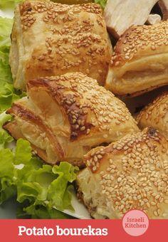 Potato bourekas: Mediterranean comfort food at its finest.