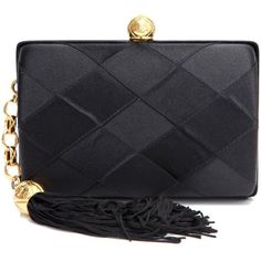 Chanel vintage bags BLACK (51.120 ARS) ❤ liked on Polyvore featuring bags, handbags, clutches, chanel, purses, borse, black, vintage, chanel handbags and vintage handbags