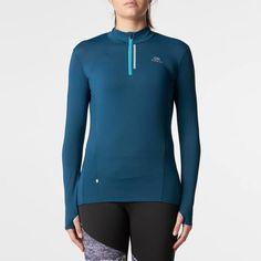 Koszulka RUN DRY+ ZIP KALENJI - Bieganie_4 Bieganie, Trail, Lekkoatletyka -...