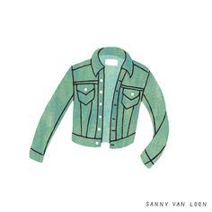 Illustration by Sanny van Loon from the book 'Creative Flow' • www.sannyvanloon.com   vintage denim jacket