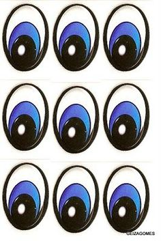 molde de olhinhos para imprimir grandes individuais - Pesquisa Google