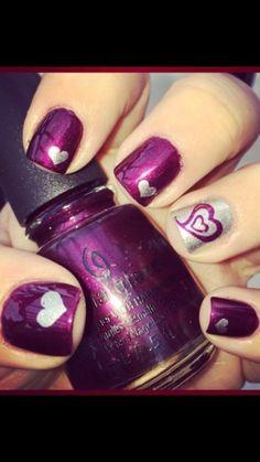 cool Heart Nail Art