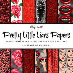 Pretty Little Liars Digital Paper Set / Digital Scrapbook