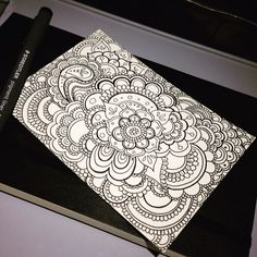My secret garden vol. 2 #postcard #mandala #doodle #zentangle