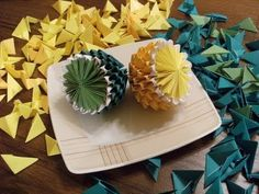 ▶ origami 3D - Lemon and Lime - how to make - YouTube