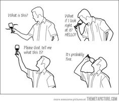 #funny man tasting wine glass