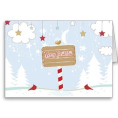 Merry Christmas Red Bird Holiday Greeting Card