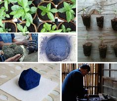 How to Make Your Own Natural Indigo Dyes (http://blog.hgtv.com/design/2011/09/07/make-your-own-indigo-dyes/?soc=Pinterest)