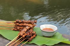 Asian Skewers with Tangy Peanut Sauce ~ via http://Taste.FourSeasons/seasonal-recipe/asian-skewers-recipe/