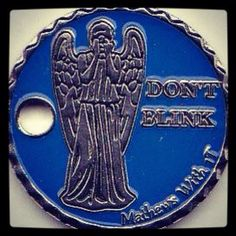 Dr Who, Don't Blink. Geocache Pathtag.