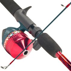 Trademark Commerce 80-7257R South Bend Worm Gear Fishing Rod & Spincast Reel Combo-Red