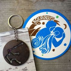 Aquarius Zodiac Keychain