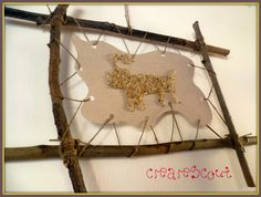 Native american art with twine, sticks fun foam, glue and sand- Katie will love this!