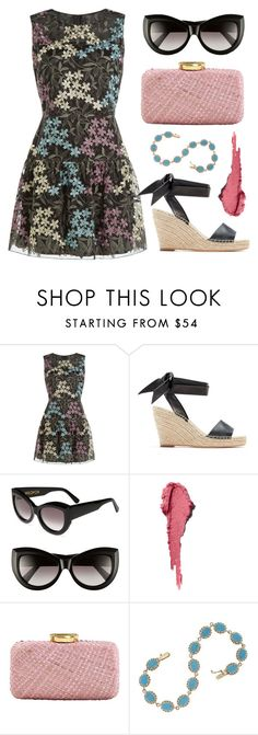 """""""Dark Lace"""" by dominosfalldown ❤ liked on Polyvore featuring Anna Sui, Wildfox, Guerlain, Kayu, QVC and lacedress"""
