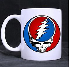 Emana Custom Grateful Dead Music Logo Ceramic Coffee Mug/Tea Cup (Twin Side Printing) for christmas gift => Additional info  : Coffee Mugs
