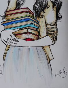 New Quotes Book Lovers Bookish 32 Ideas I Love Books, Good Books, Books To Read, My Books, Stack Of Books, Book Drawing, Library Drawing, Drawing Quotes, Girl Reading