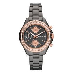 FOSSIL® Watch Styles Rose Watches:Women Dylan Stainless Steel Watch – Smoke with Rose wanted by ChicCooltured. Fossil Watches, Cool Watches, Watches For Men, Women's Watches, Stainless Steel Watch, Stainless Steel Bracelet, Jewelry Gifts, Jewelry Accessories, Yoga Jewelry