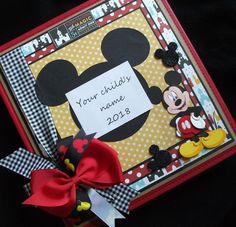 Personalized large Disney premade scrapbook album Scrapbook Cover, Disney Scrapbook, Photo Album Scrapbooking, Scrapbook Albums, Paper Bag Books, Disney Crafts, Journal Cards, Consideration, Etsy