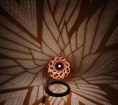 dekorative leuchten calabarte schatten spiel blumen