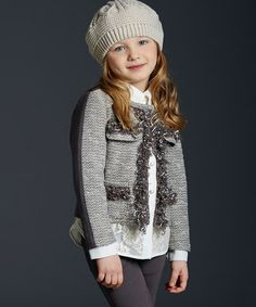 Another great find on #zulily! Taupe & Brown Frill Jacket - Girls by ValMax #zulilyfinds