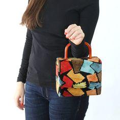 Carpetbag Style Handbag