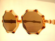 These are so different from other sunglasses. It's nice to see a totally different sunglass shape. Biddy Craft