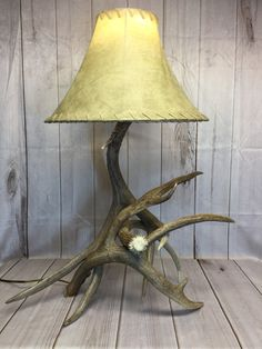Deer Antler Lamp Made from Real Antlers Deer Antler Lamps, Something Just Like This, Shed Antlers, Antique Lamps, Bronze Finish, Old Things, Table Lamp, Lamp Ideas, Rustic