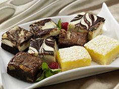 Gourmet Cream Cheese & Walnut Fudge Brownies - Lemon Bars