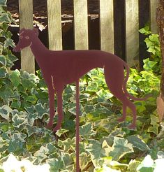 Greyhound Garden Stake Pet Memorial Ornament Steel by HauteSteel, $38.00