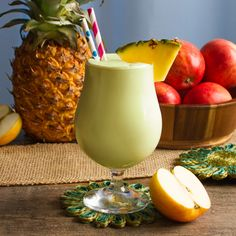 Perfect for pool parties and summer gatherings, this Daiquiri recipe is a cool, creamy treat that'll be the apple of everyone's eye! All you need is Pucker® Sour Apple Schnapps, smooth Cruzan® Rum, some sour mix, apple juice and vanilla ice cream to create a decadent apple and rum cocktail that'll be the life of the party.