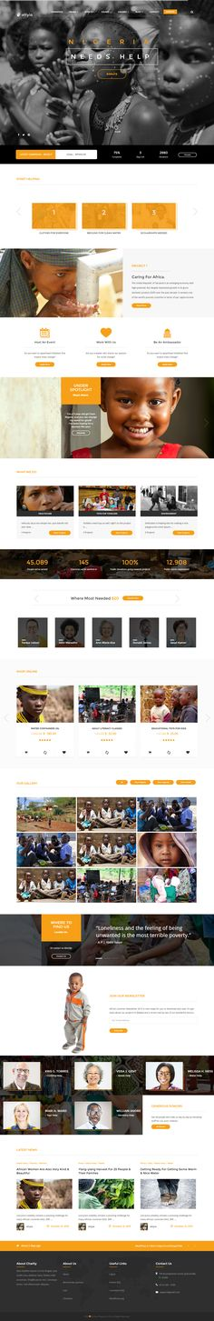 Attyia is a modern elegant NGO and Charity Wordpress Theme. It comes with 2 gallery styles, projects, causes, Event Calendar, Charity Products, donations and more. Attyia is fully responsive on all devices and compatible with all modern browsers. See the other features below.