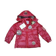 Moncler Outlet Himalaya Multiple Logo Hooded Down Kids Jacket Strawberry Kids  Coats c19c3aad77