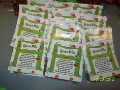 Grinch Day - treats for the kids at the end of the day
