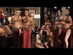Slave Leia PSA starring Kaley Cuoco - YouTube