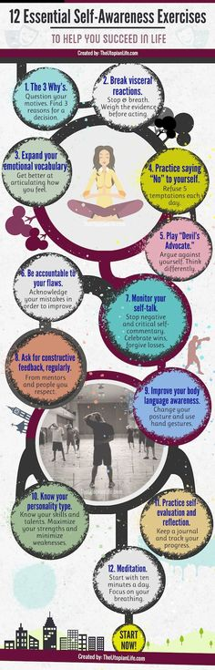 12 Essential Self-Awareness Exercises // Personal Development