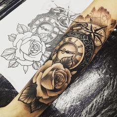 Trendy tattoo arm ideas inspiration 28 ideas tattoo old school tattoo arm tattoo tattoo tattoos tattoo antebrazo arm sleeve tattoo Forarm Tattoos, Wolf Tattoos, Body Art Tattoos, Tribal Tattoos, Tattoo Arm, Clock Tattoos, Scale Tattoo, Tatoos, Knot Tattoo