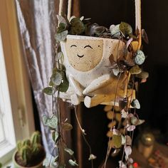 Ceramic Planter Pot - Gili the silly planter Maya, Ceramic Soap Dish, Handmade Home Decor, Handmade Art, Ceramic Planters, Hanging Planters, Flower Pots, Etsy, Pot Plants
