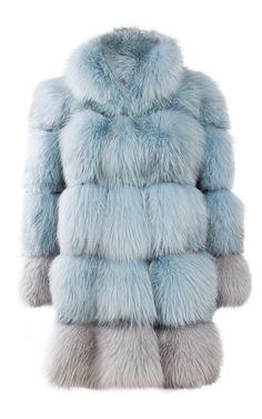 Arctic Marble Fox Fur Coat by Milusha for Preorder on Moda Operandi