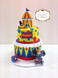 Fondant Circus Theme Birthday Cake Circus Cake Frost It Cupcakery
