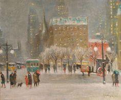 A Winter Night in New York by Guy Wiggins